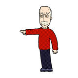 Comic cartoon old man gesturing Get Out! Stock Photography