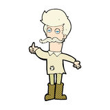 comic cartoon old man in poor clothes Royalty Free Stock Photos