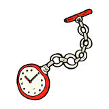 comic cartoon old pocket watch Stock Photo