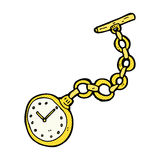 comic cartoon old pocket watch Royalty Free Stock Images