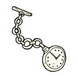comic cartoon old pocket watch Royalty Free Stock Photography