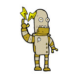 Comic cartoon old robot Stock Photo
