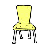 comic cartoon old school chair Royalty Free Stock Images