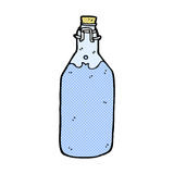 Comic cartoon old style water bottle. Retro comic book style cartoon old style water bottle Stock Photography