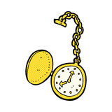 comic cartoon old watch Stock Photo
