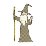 comic cartoon old wizard Royalty Free Stock Photo