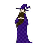Comic cartoon old wizard Royalty Free Stock Images