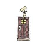 Comic cartoon old wood door Stock Photos