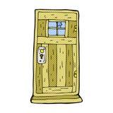 Comic cartoon old wood door Royalty Free Stock Image