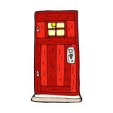 Comic cartoon old wood door Royalty Free Stock Photo