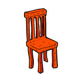 comic cartoon old wooden chair Stock Photo