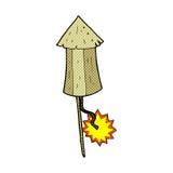 Comic cartoon old wooden firework Royalty Free Stock Image