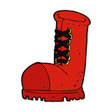 Comic cartoon old work boot Royalty Free Stock Photography