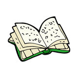 Comic cartoon open book. Retro comic book style cartoon open book Stock Photography