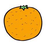 comic cartoon orange Royalty Free Stock Image