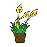 Comic cartoon orchid plant Stock Images
