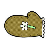 Comic cartoon oven glove Royalty Free Stock Images