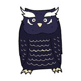 comic cartoon owl Royalty Free Stock Photo