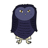 comic cartoon owl Stock Image