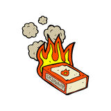 comic cartoon pack of matches Stock Images