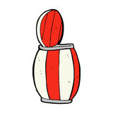 comic cartoon painted barrel Stock Images