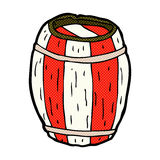 comic cartoon painted barrel Stock Photo