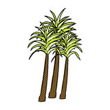 Comic cartoon palm tree Royalty Free Stock Images