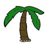 Comic cartoon palm tree Royalty Free Stock Photos