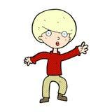 Comic cartoon panicking boy. Retro comic book style cartoon panicking boy Stock Photography