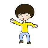 Comic cartoon panicking boy. Retro comic book style cartoon panicking boy Royalty Free Stock Image