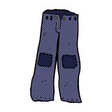 Comic cartoon patched old jeans Royalty Free Stock Photography