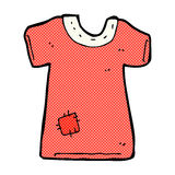 comic cartoon patched old tee shirt Stock Image