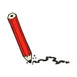 Comic cartoon pencil Royalty Free Stock Photo