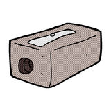 Comic cartoon pencil sharpener Royalty Free Stock Images