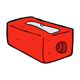 Comic cartoon pencil sharpener Stock Photography