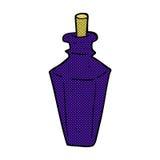 Comic cartoon perfume fragrance bottle Stock Photography