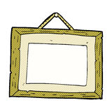 Comic cartoon picture frame Stock Photography