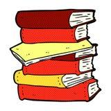 Comic cartoon pile of books Stock Photos