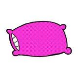 Comic cartoon pillow Royalty Free Stock Image