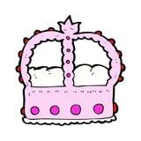 Comic cartoon pink crown Stock Photography