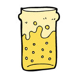 comic cartoon pint of beer Stock Photography