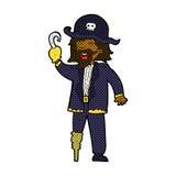 Comic cartoon pirate captain Stock Image