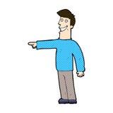 Comic cartoon pointing man Stock Photo