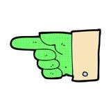 Comic cartoon pointing zombie hand Royalty Free Stock Photos