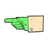 Comic cartoon pointing zombie hand Royalty Free Stock Photo