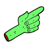 Comic cartoon pointing zombie hand Stock Photo