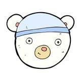 comic cartoon polar bear face Royalty Free Stock Image