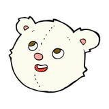 comic cartoon polar bear face Royalty Free Stock Photo