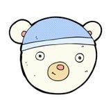 comic cartoon polar bear face Stock Image