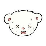 comic cartoon polar bear face Stock Photo